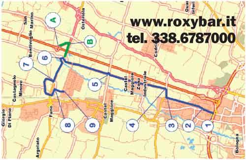 mappa del Roxy Bar zona centergross
